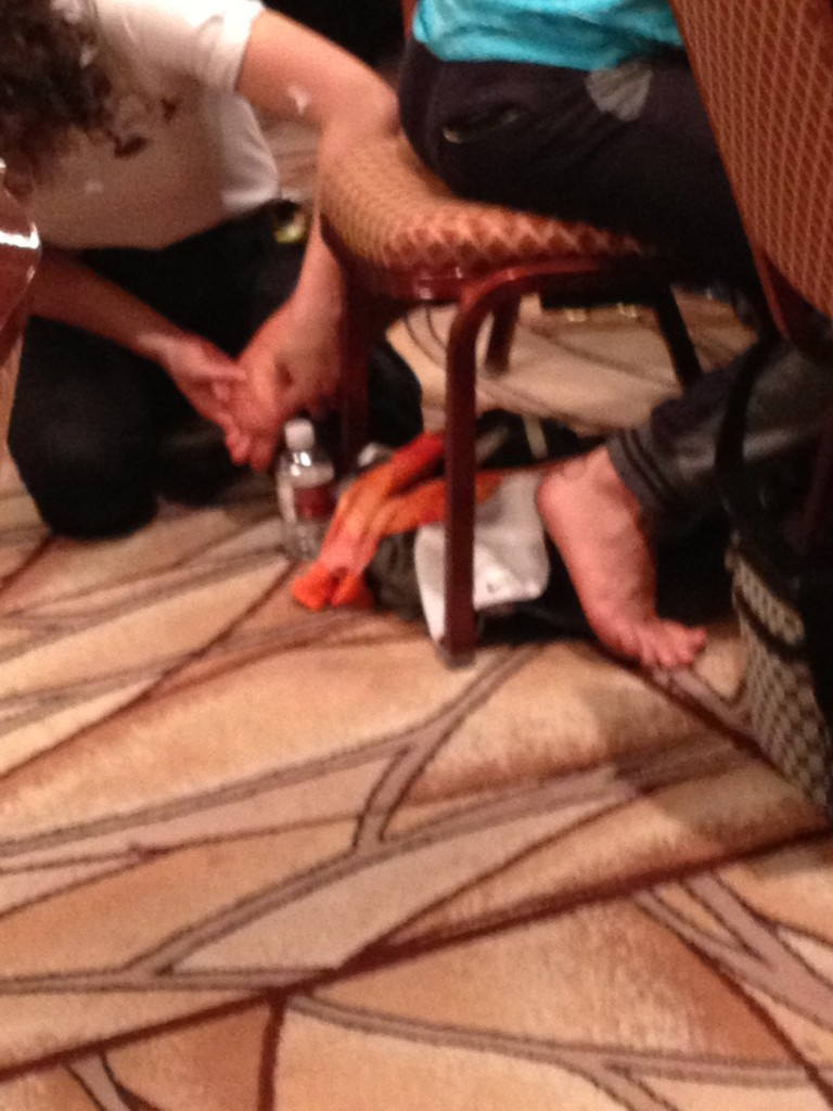 This Is Just Plain Wrong - Esfandiari Gets Foot Massage at Day 1 Table