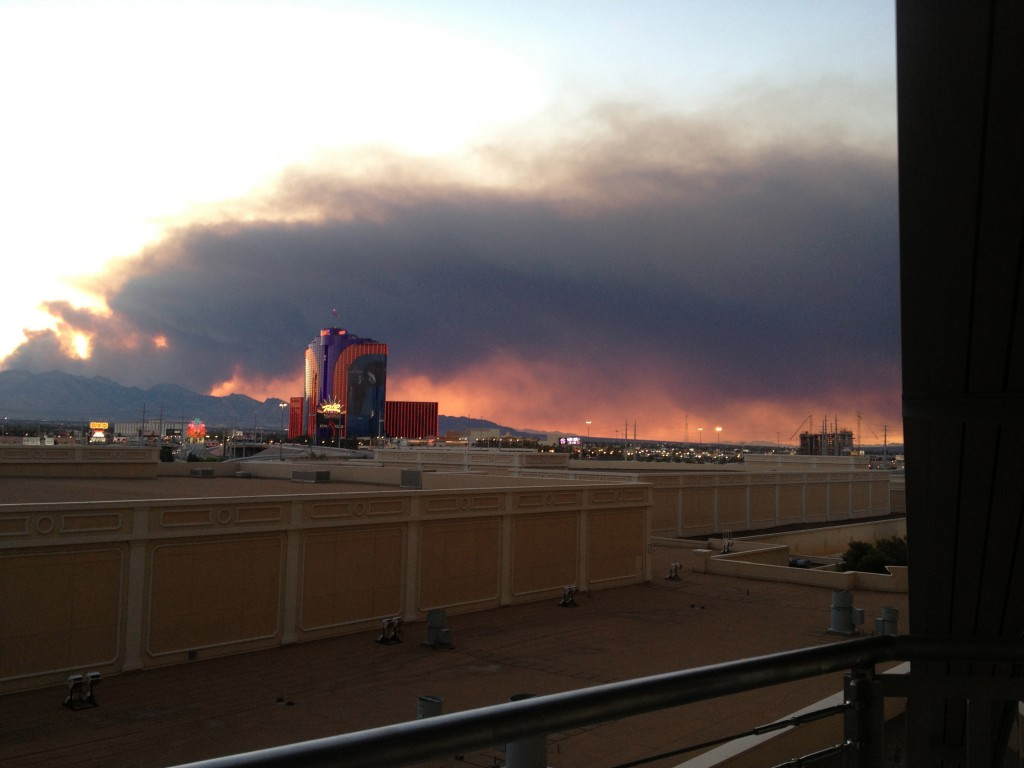 Is It Smoke from Wildfire Illuminated by Sunset or Just a Precursor of the Fire and Brimstone Bound to Destroy Las Vegas?